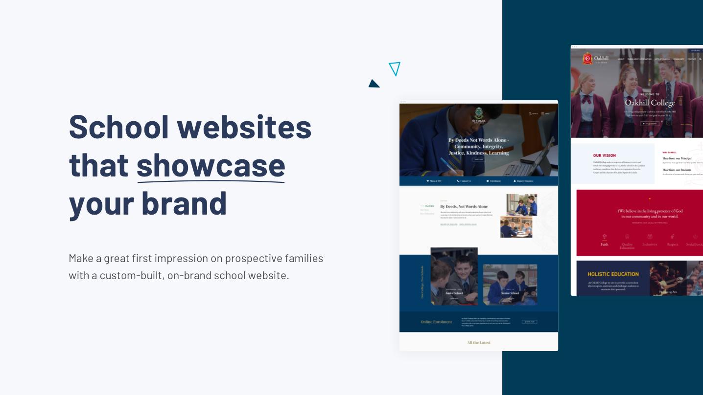 Digistorm Websites Software - School websites that showcase your brand