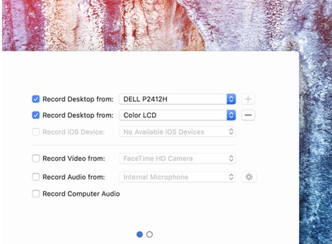 ScreenFlow multi-screen recording