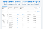 Together Enterprise Mentoring screenshot: Simple setup, all-in-one place. Every product decision we make is focused on how can we make this simpler for our users.