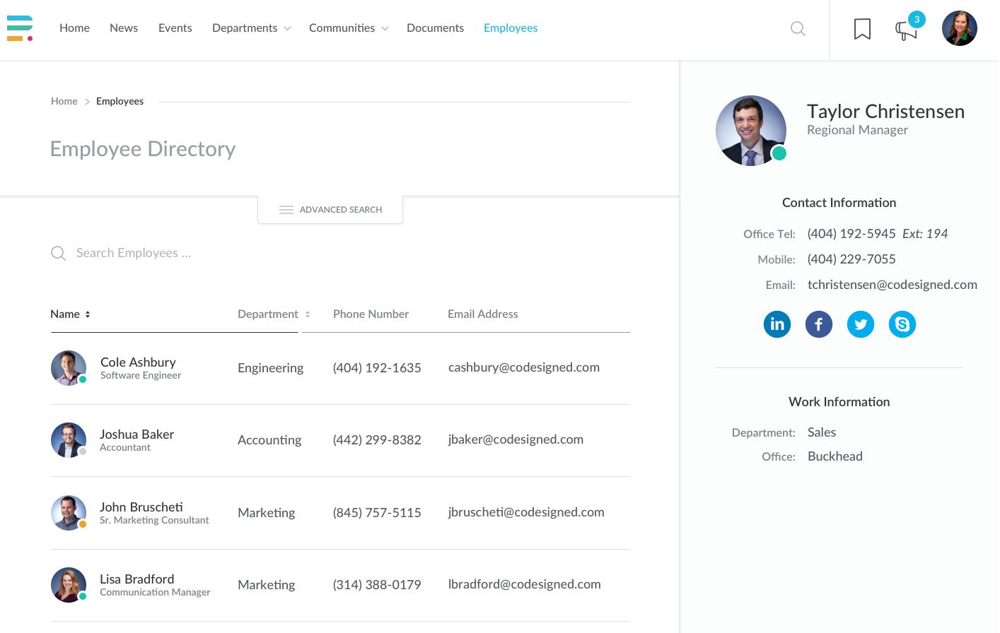 Employee directories