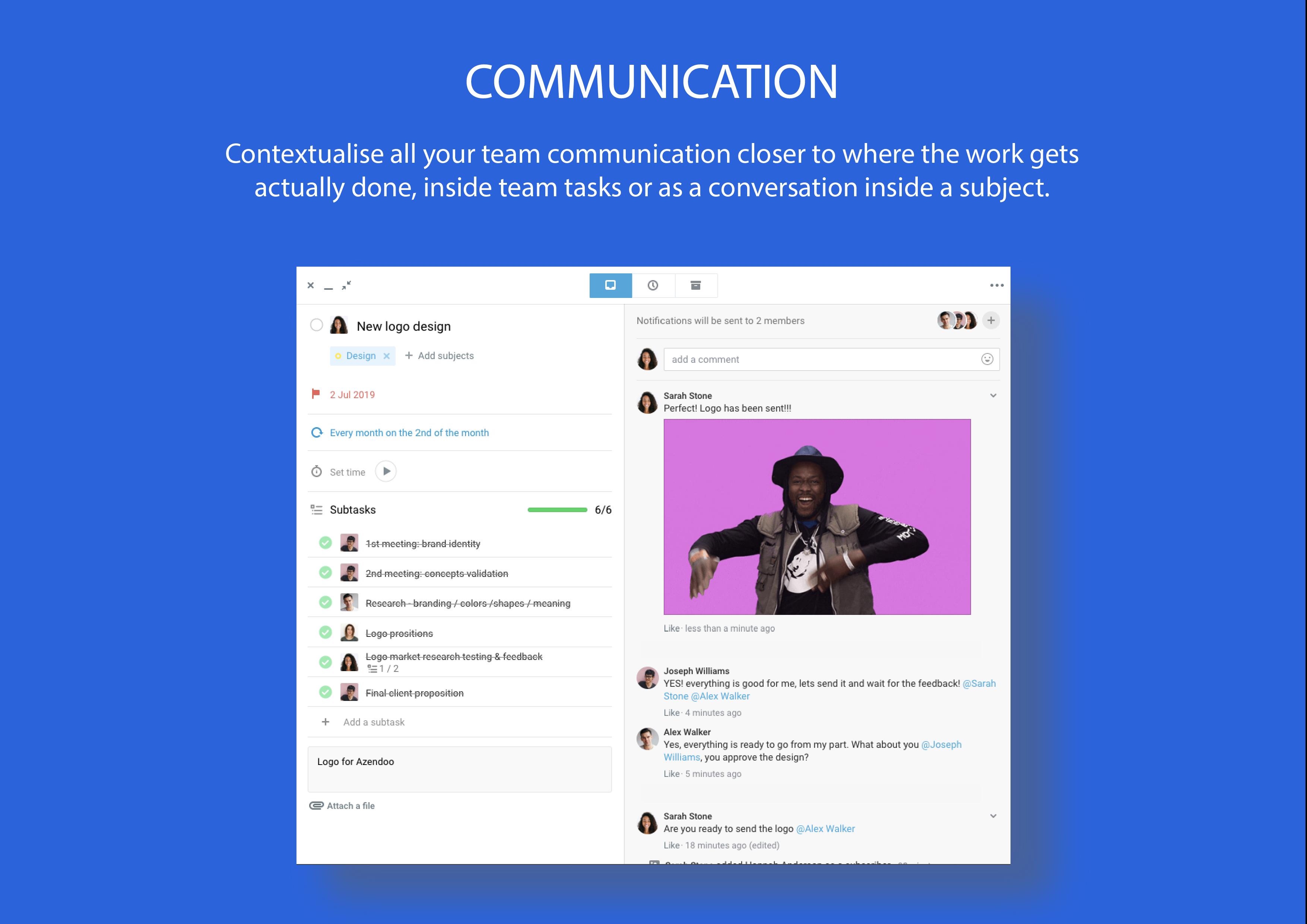Task-focused team communication