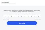 HealthEngine screenshot: HealthEngine feedback collection