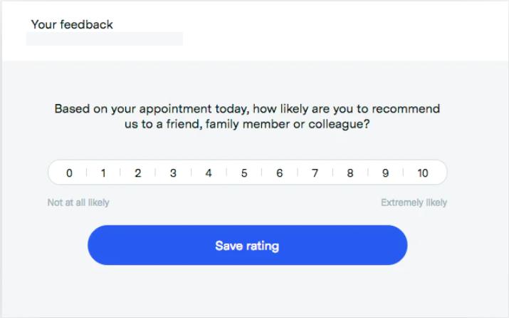 HealthEngine feedback collection