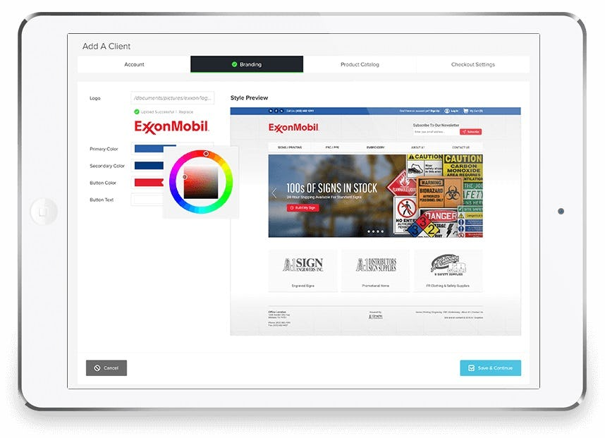 Clarity eCommerce Software - Add a client