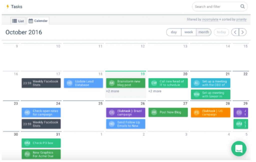 Easily create and assign tasks. Set deadlines and view in list or calendar view