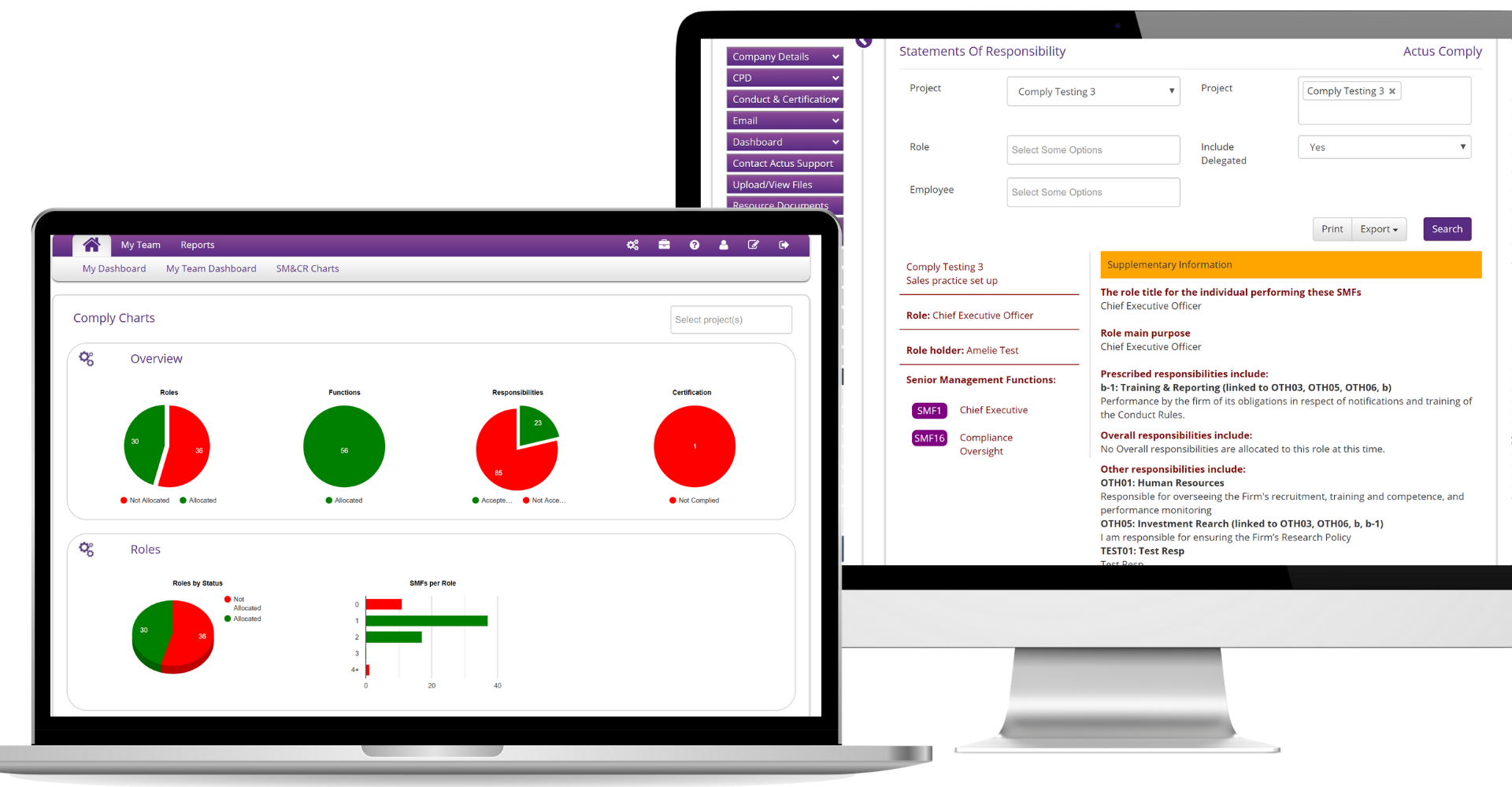 Actus Software - Actus Compliance