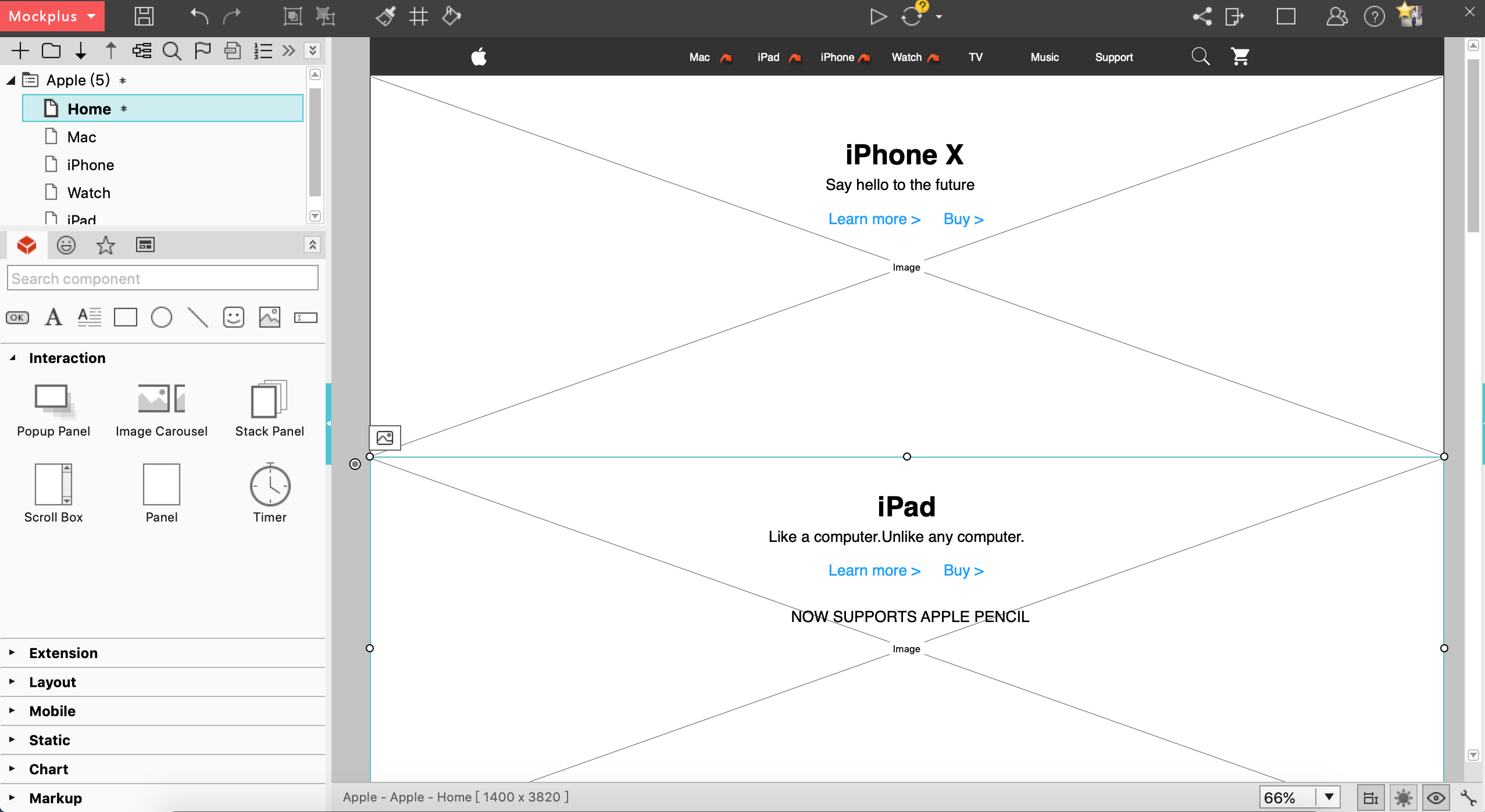 Mockplus home page screenshot