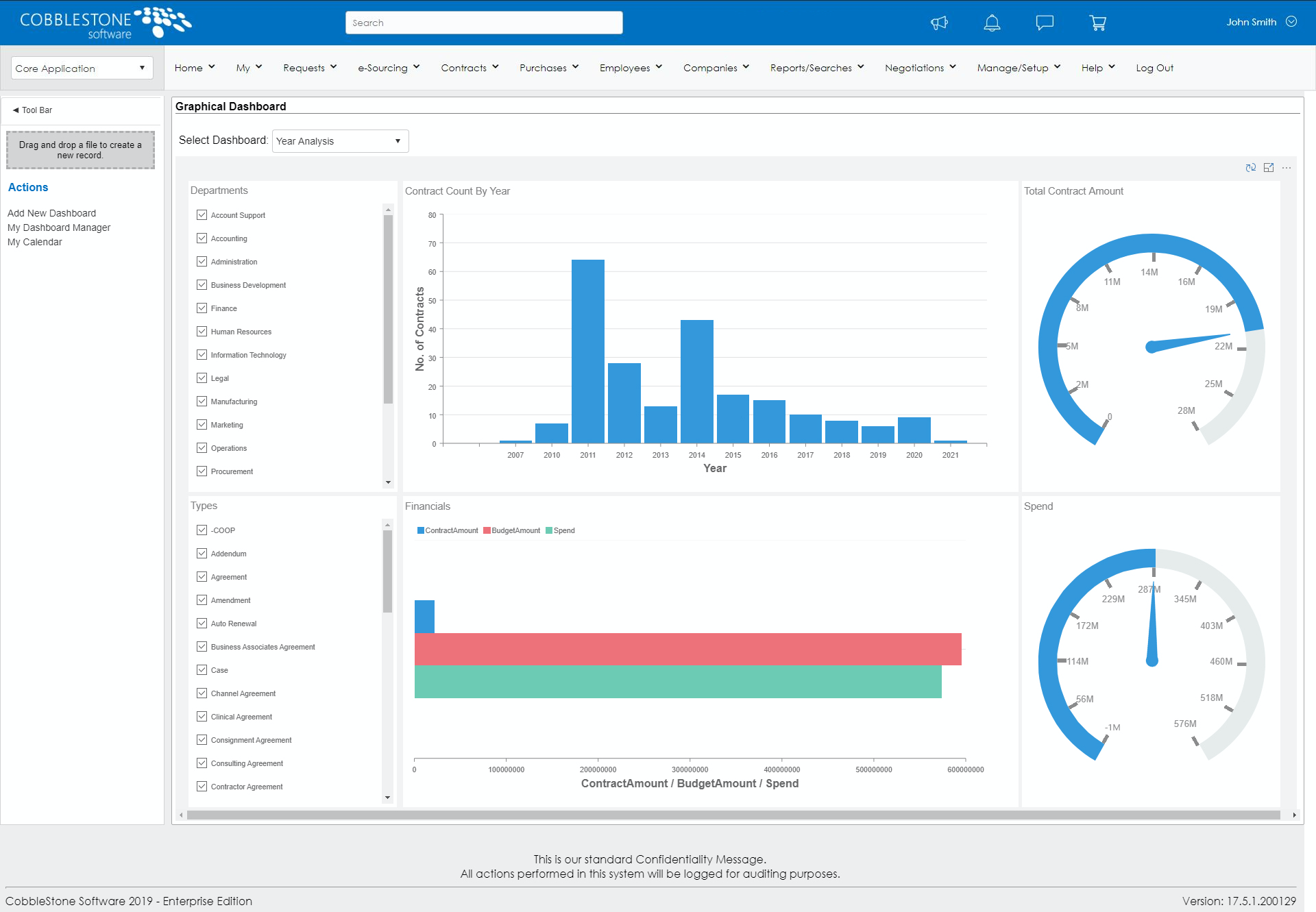 Easily track, manage, and analyze contracts with CobbleStone's Contract Insight®