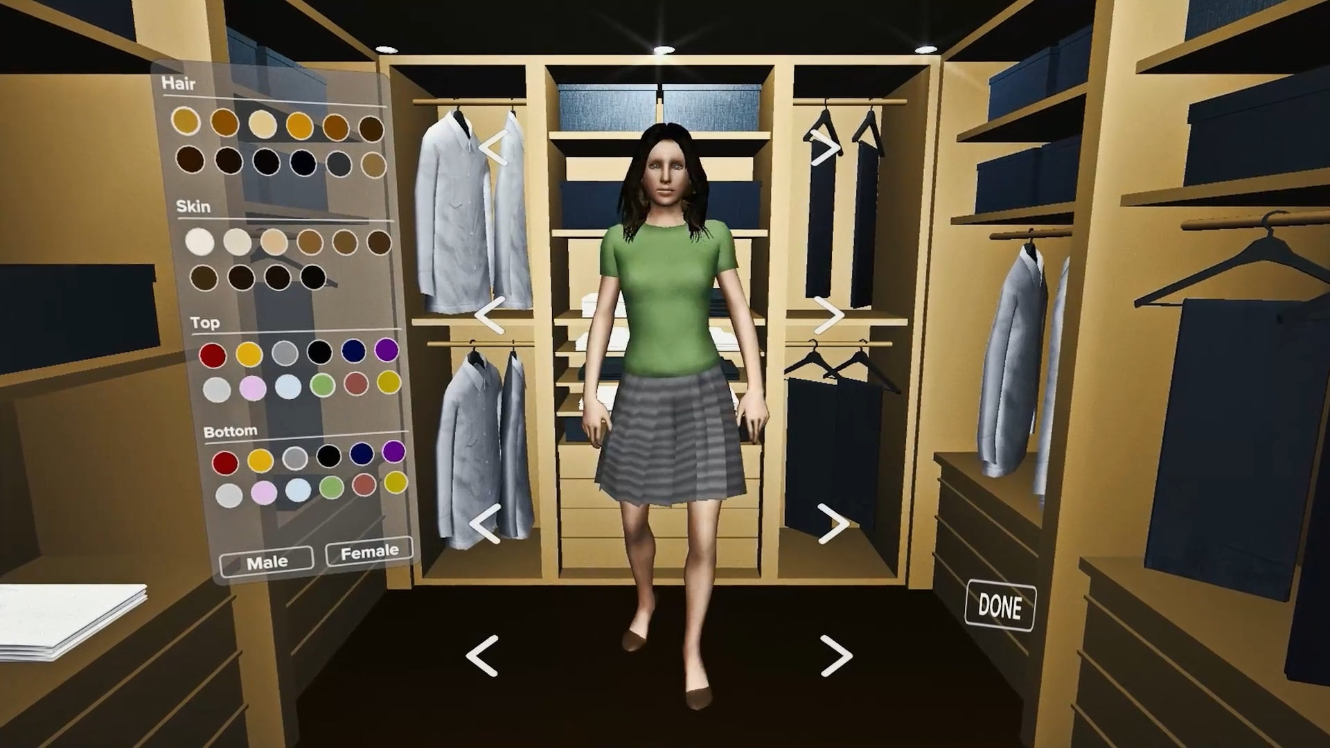 Each attendee creates their own, personal avatar to move through the virtual world with.