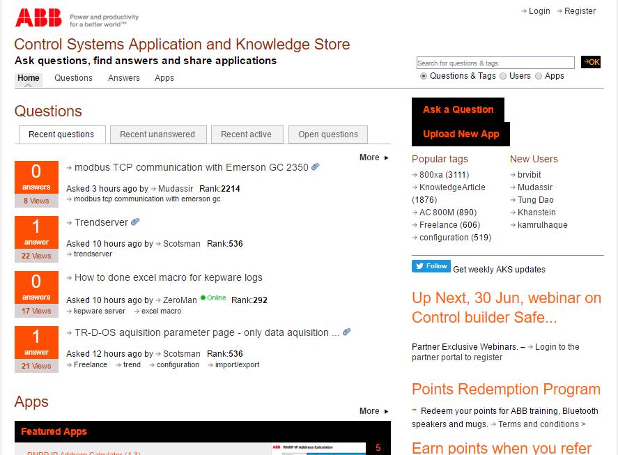 ABB Knowledge Store http://www402.abbext.com/