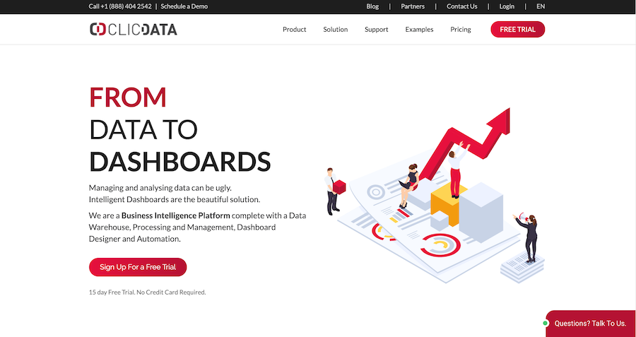 ClicData screenshot: Visit our website: www.clicdata.com