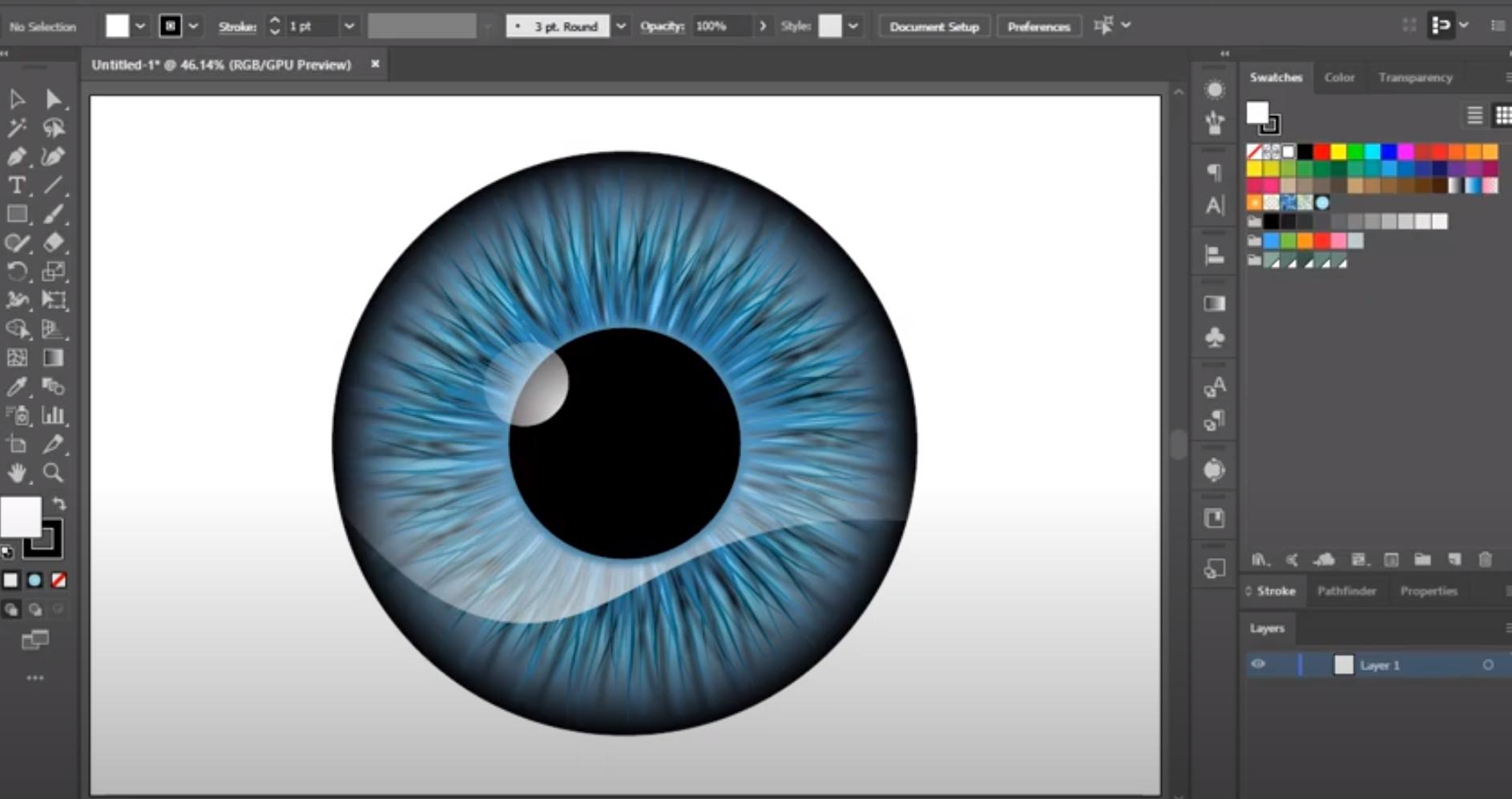 Adobe Illustrator color editor
