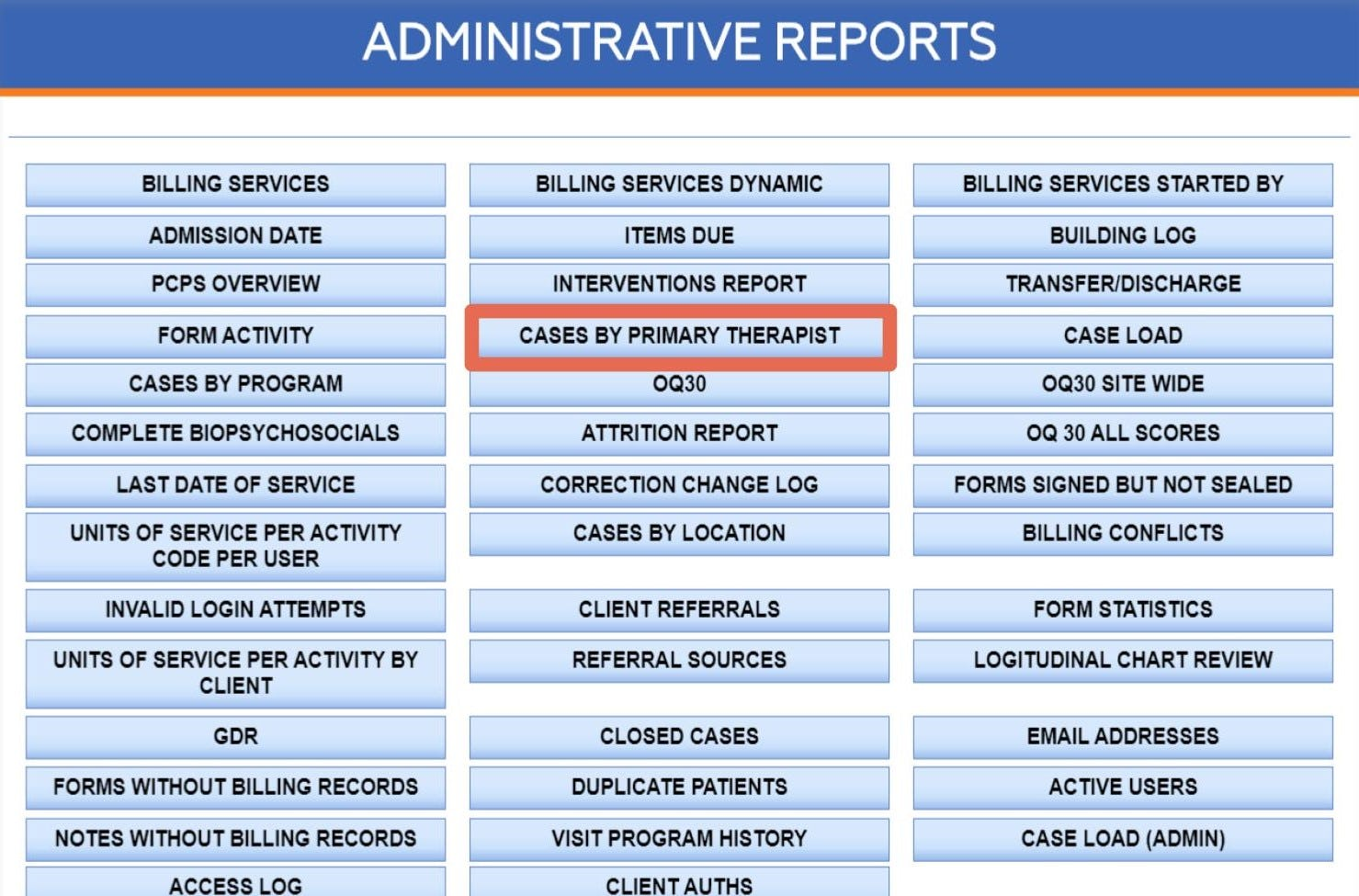 NextStep Software - Administrative Reports