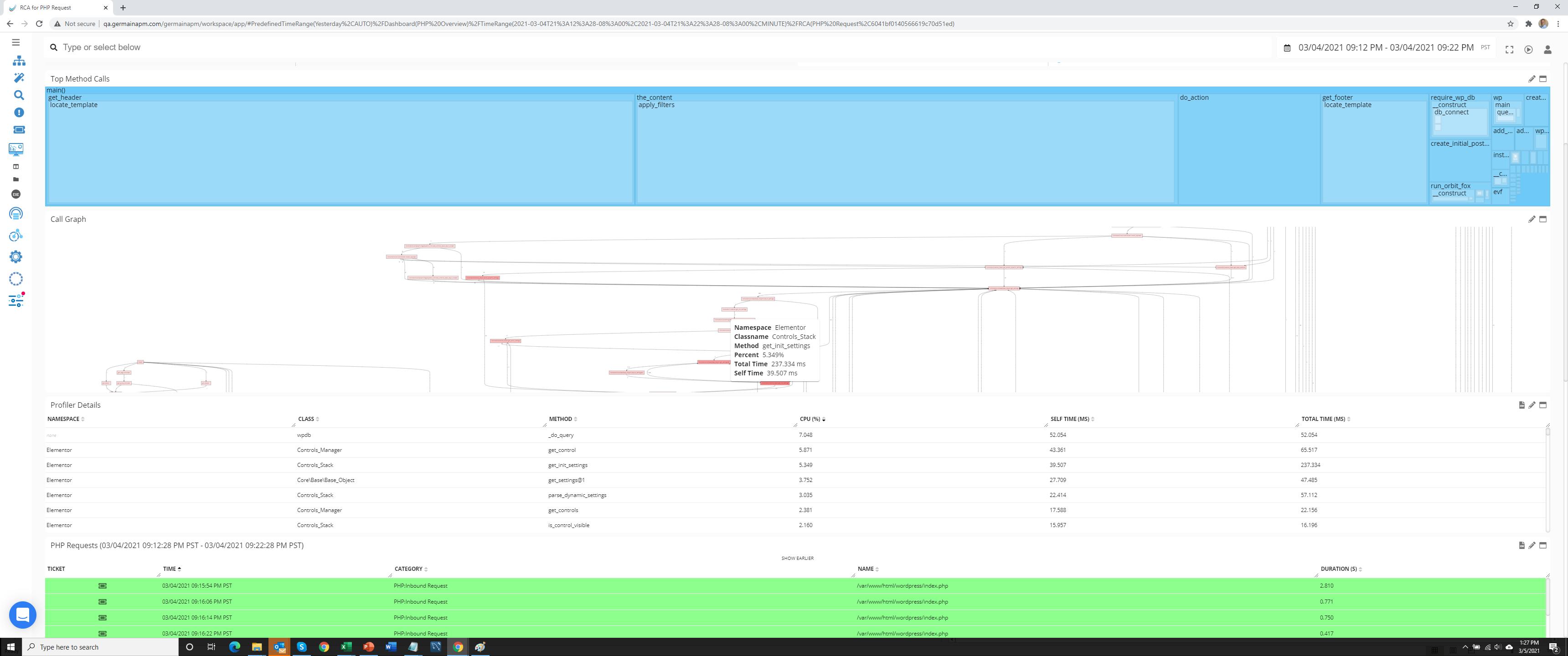 germain APM Software - Transaction RCA (code analysis)
