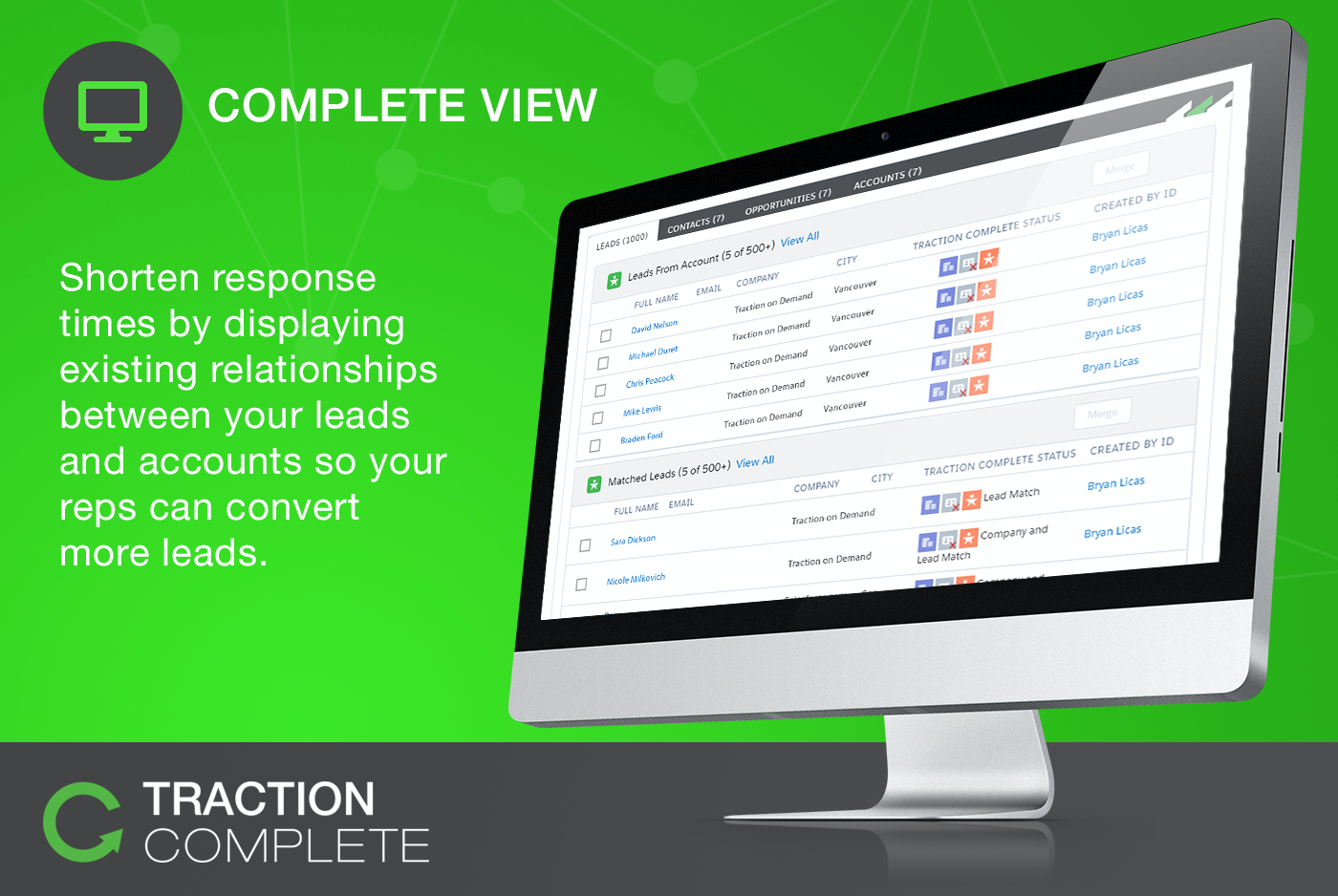 Shorten lead response times by providing sales reps with insight into existing relationships