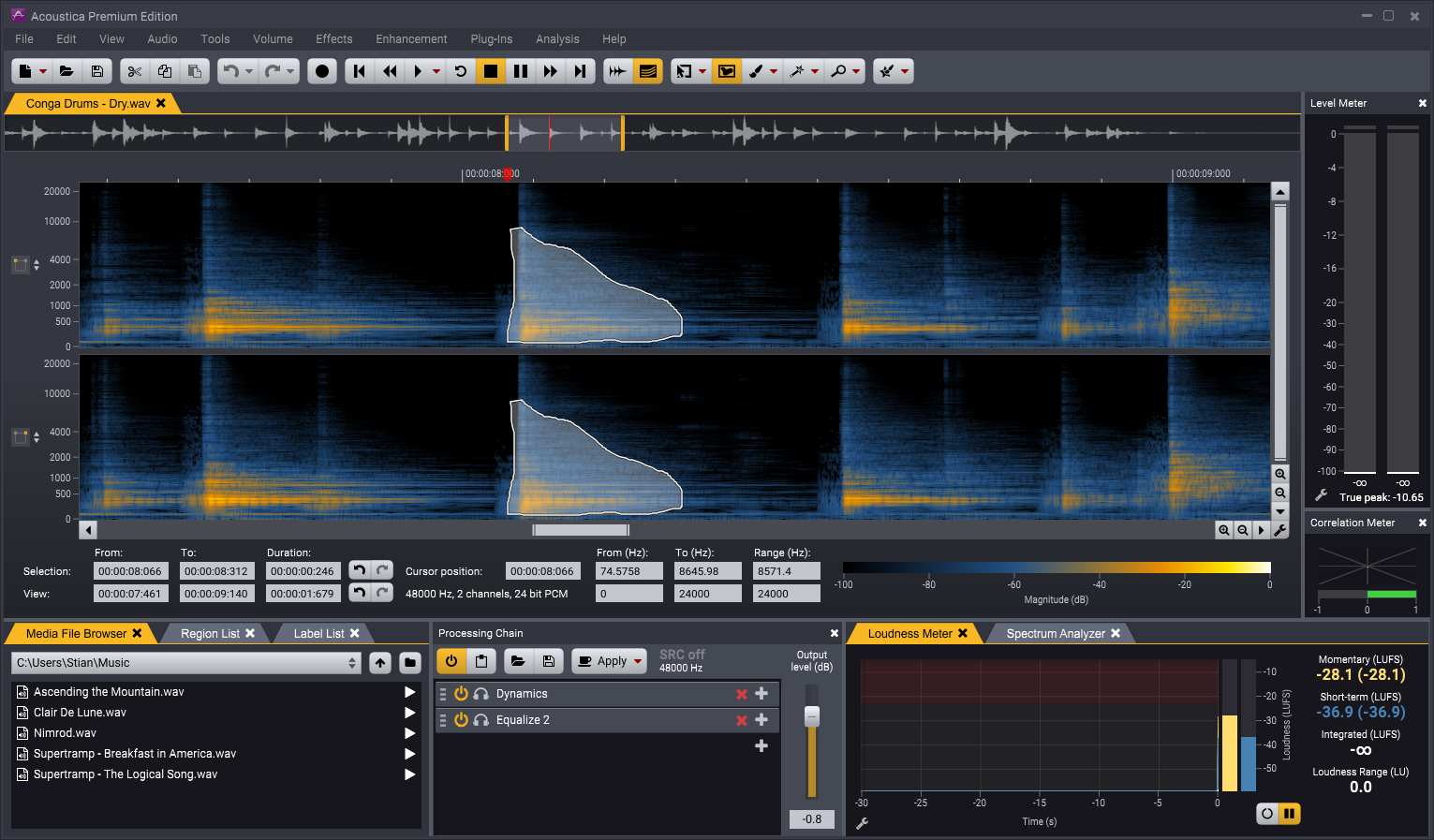 Acoustica Spectral Editor