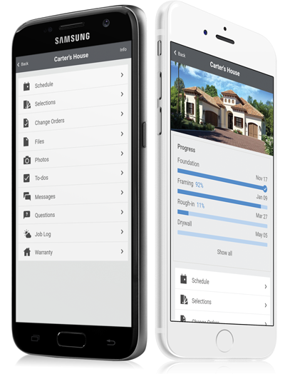 Mobile Devices Android & Apple, Client Login and Builder Login