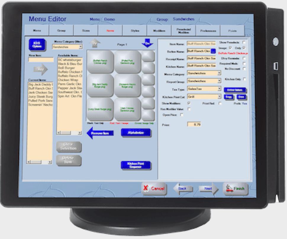 HungerRush Software - HungerRush menu management