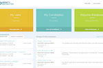 MightyRecruiter screenshot: Track current job postings and keep up with candidates via the dashboard