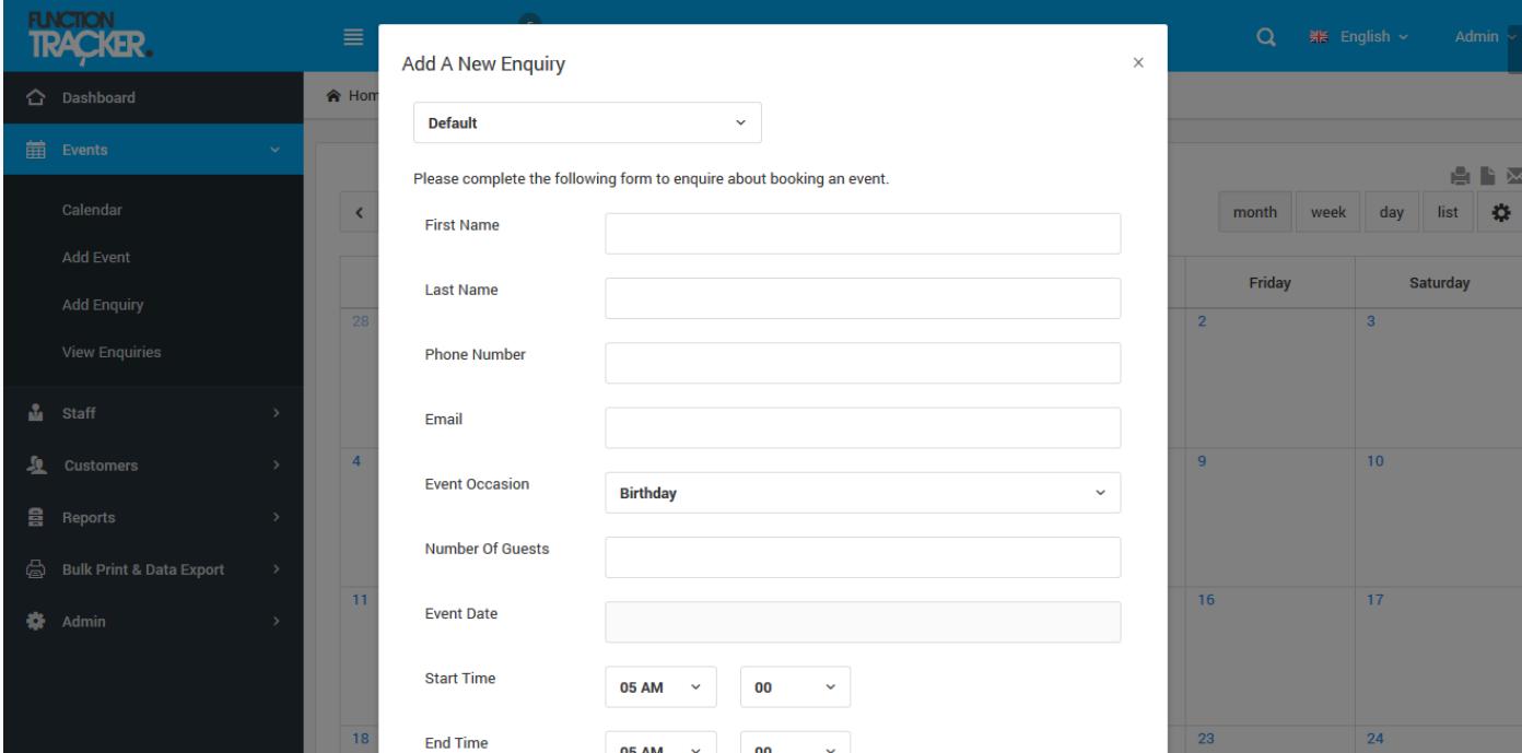 Function Tracker inquiry screenshot