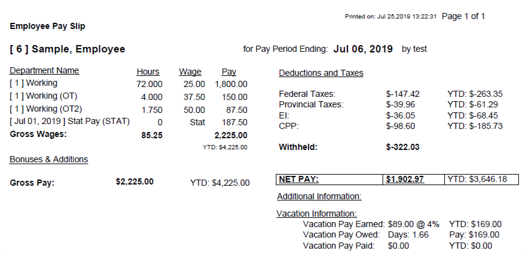 Payroll Connected emailed pay slips