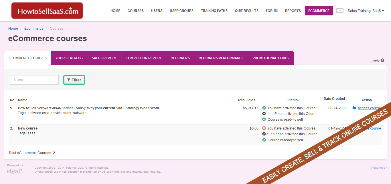 eCommerce courses