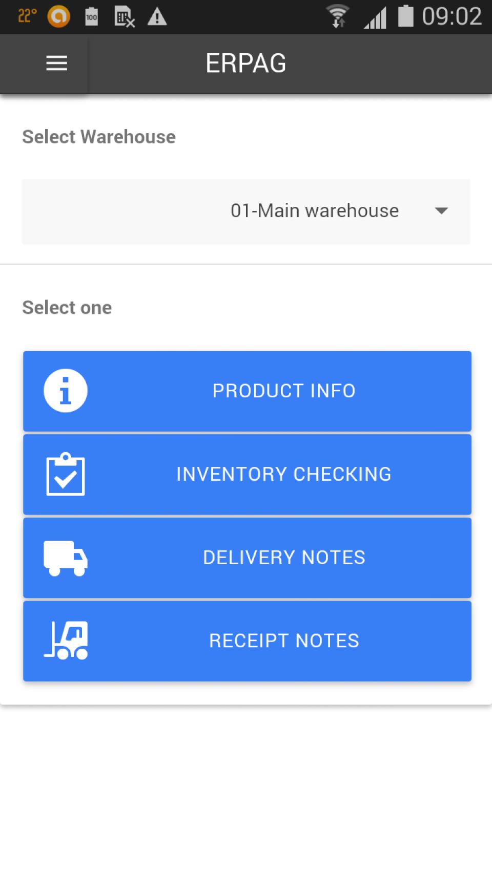 ERPAG Software - Mobile app