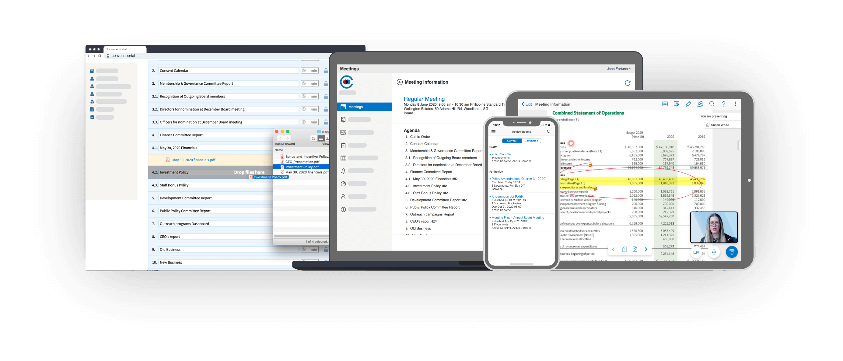 Azeus Convene Software - Multi-platform capability