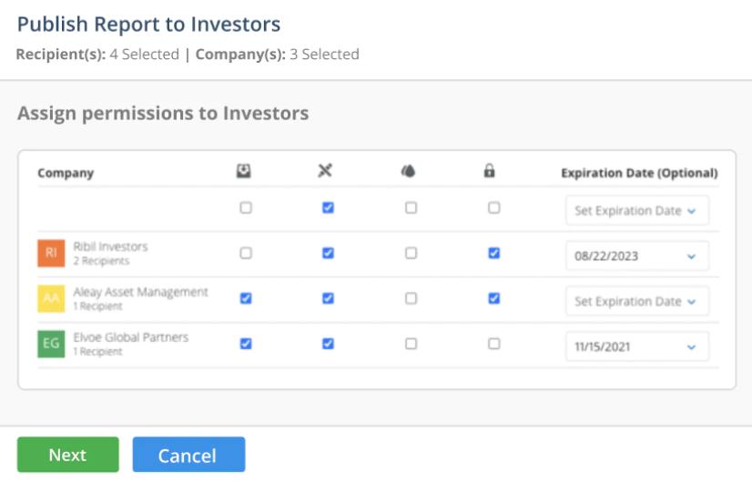 ODD360 screenshot: ODD360 publish reports