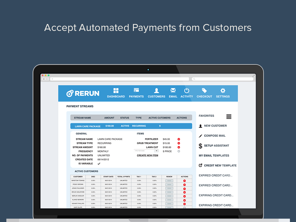 Accept automated recurring, subscription or membership payments online and offline.