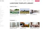 Lumiform screenshot: Lumiform template library
