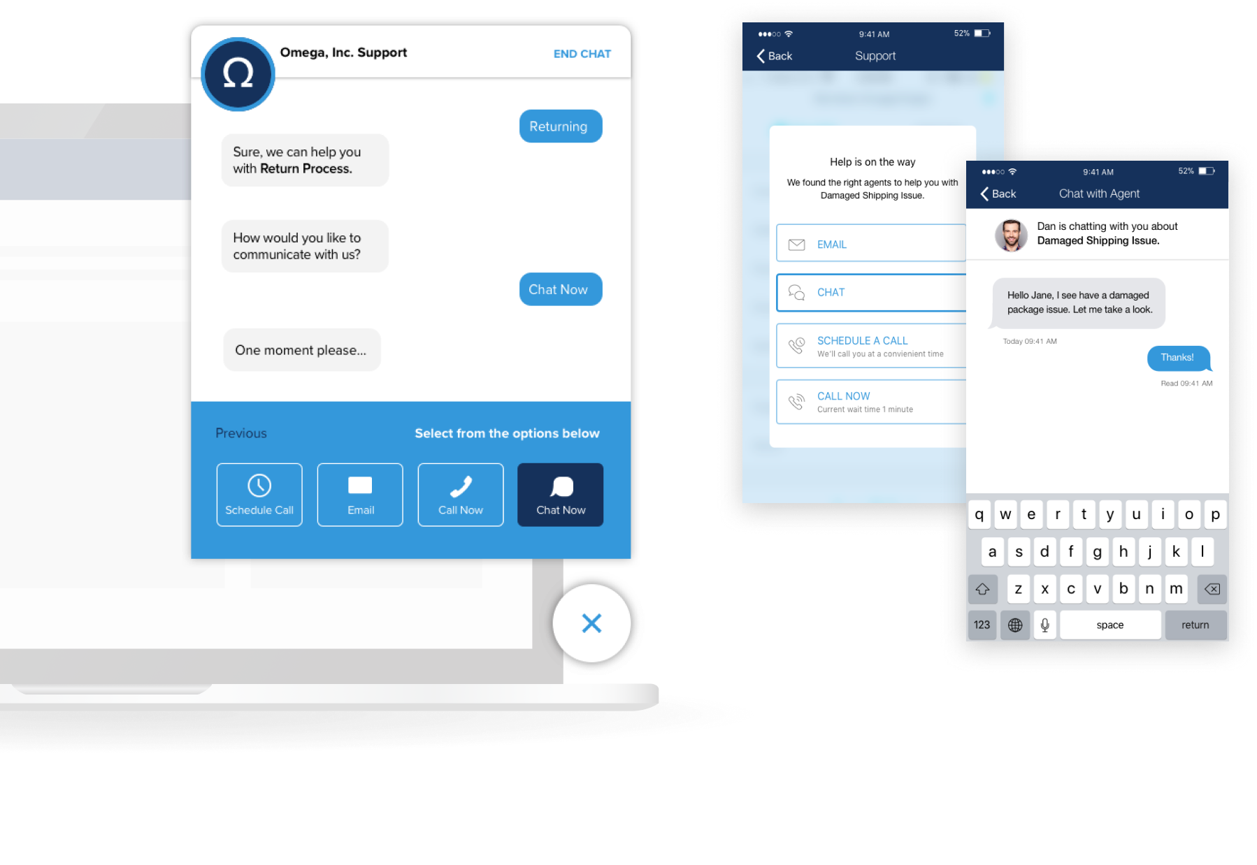 UJET Software - UJET end-user chat view