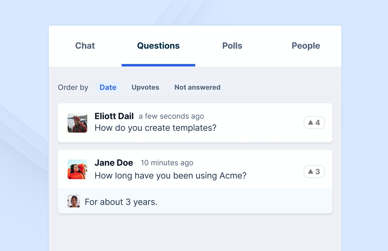 Livestorm Software - Livestorm participant questions