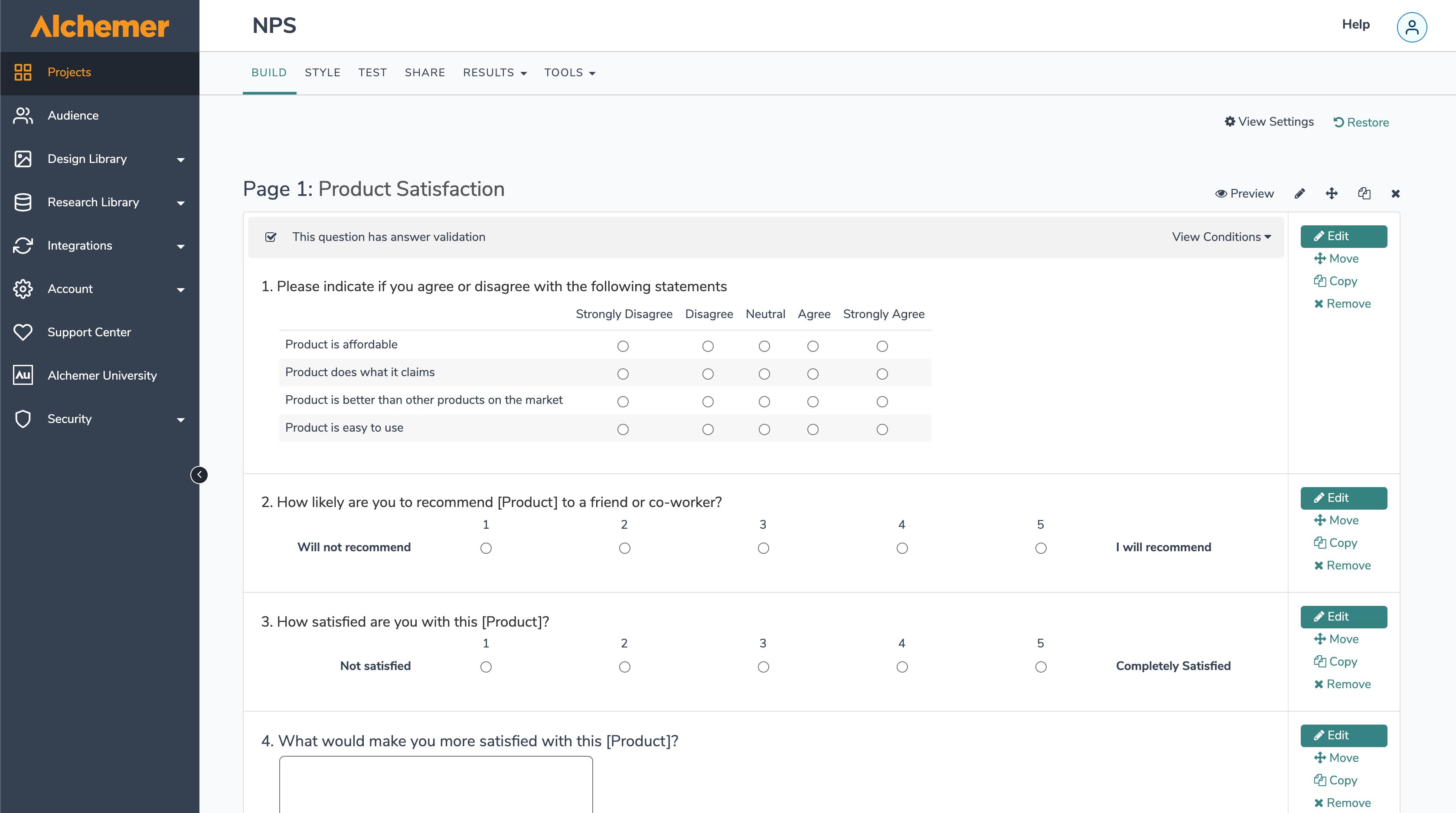 Alchemer Software - NPS Build