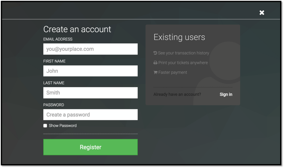 Users can create accounts to manage their bookings