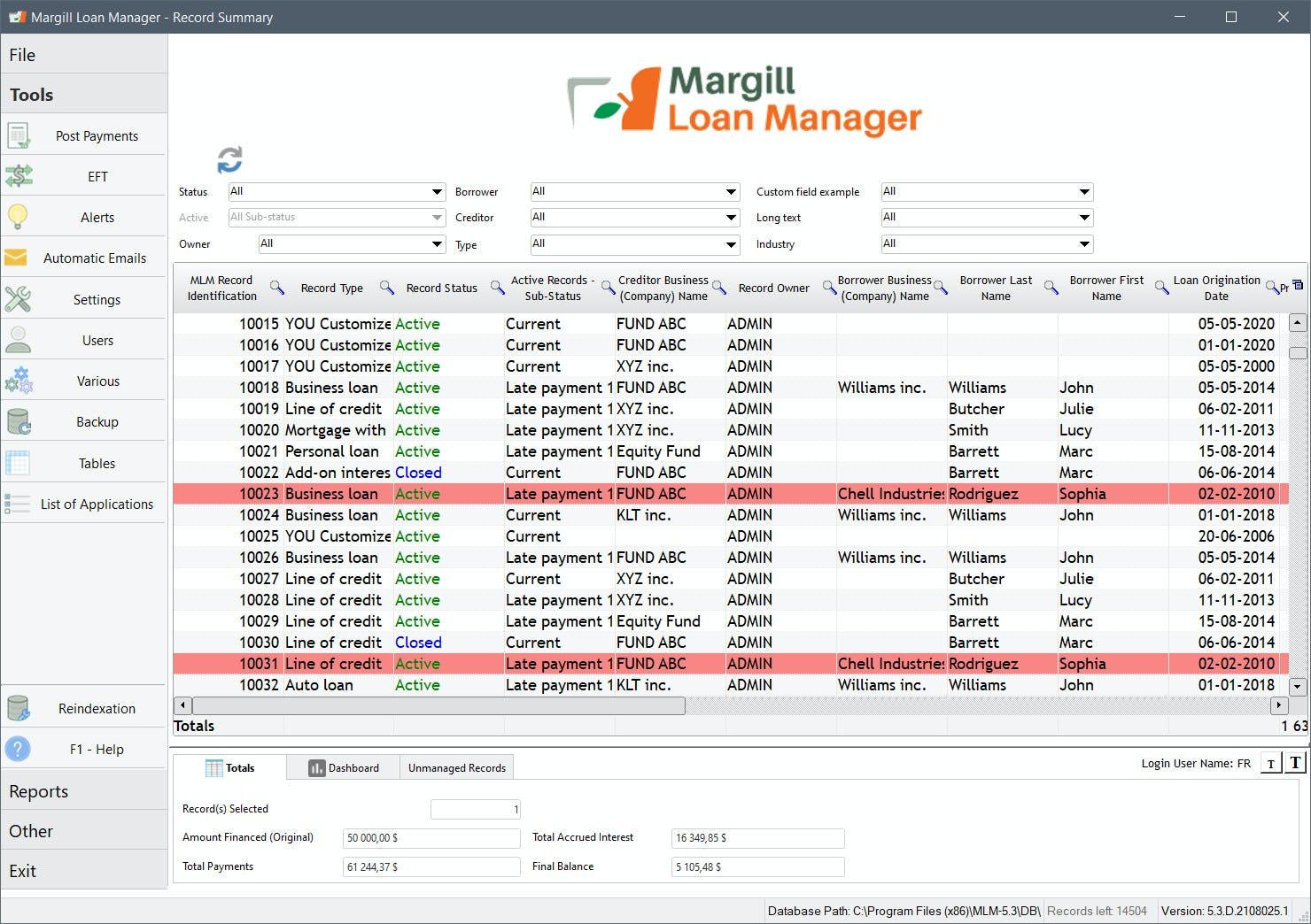 Margill Loan Manager Software - 1