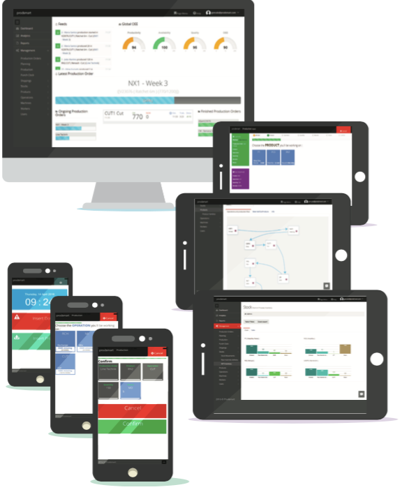 Prodsmart screenshot: Prodsmart works across mobile and tablet devices to provide a fully paperless workflow