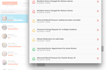iCareManager screenshot: The Alerts & Notification Center highlights certain critical events and reminders such as status changes, upcoming appointments and missed medications etc