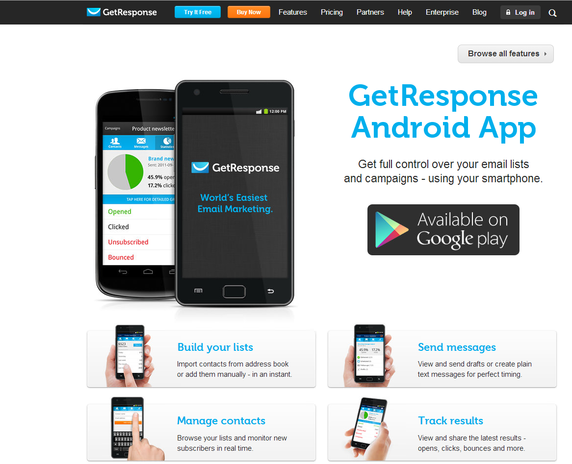 GetResponse Android App