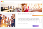 Ning for Businesses screenshot: Create site & add content with drag and drop builder
