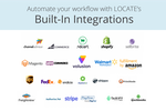 LOCATE screenshot: Streamline your business with LOCATE's 30+ native integrations.