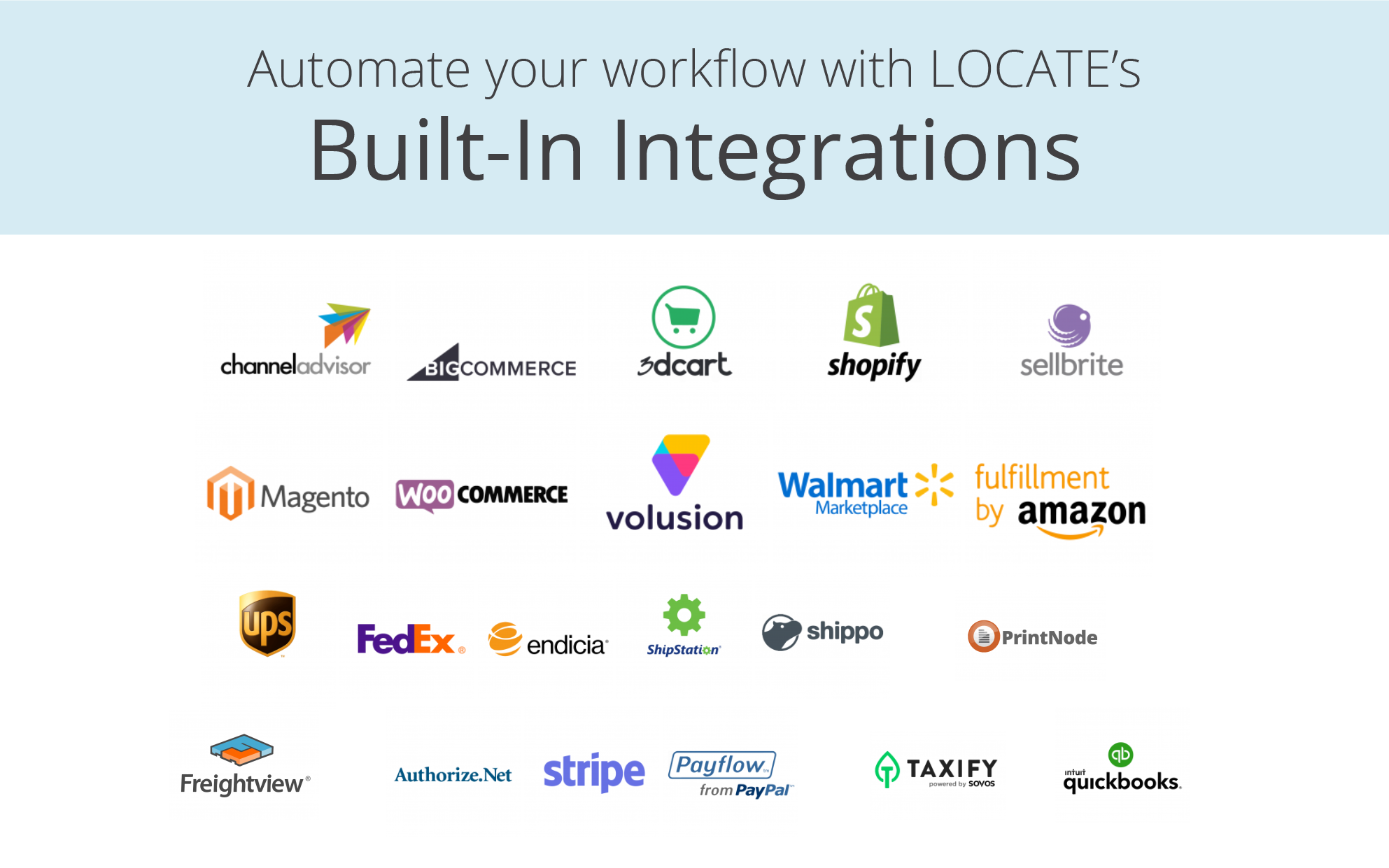 Streamline your business with LOCATE's 30+ native integrations.