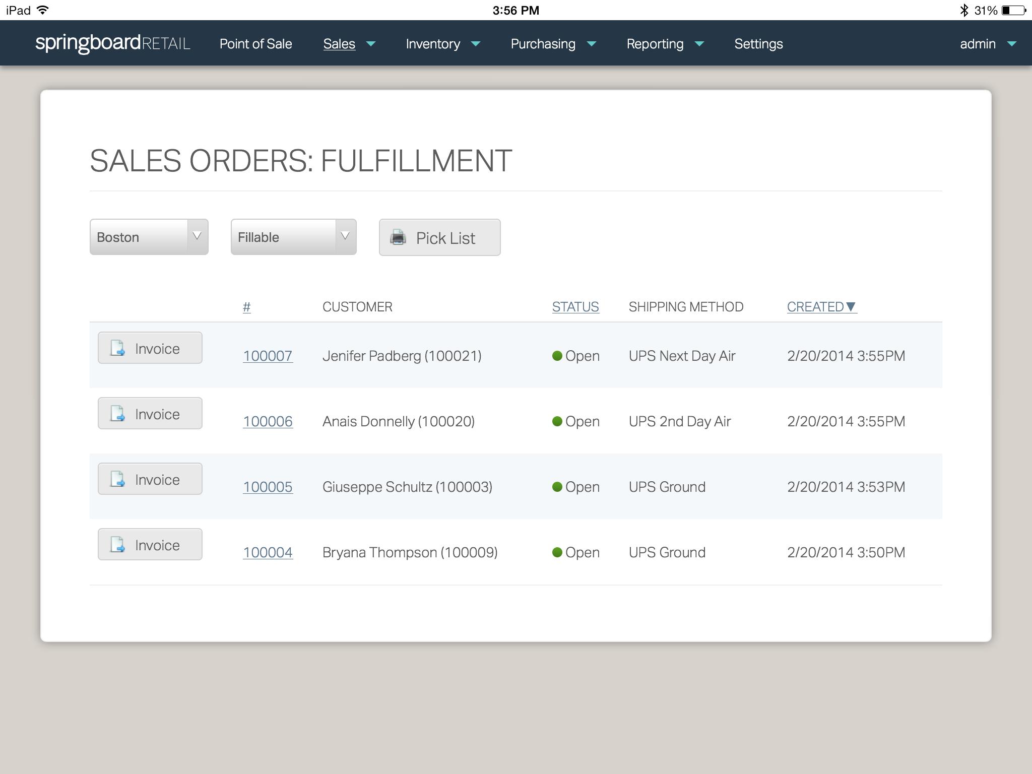 Heartland Retail Sales Order