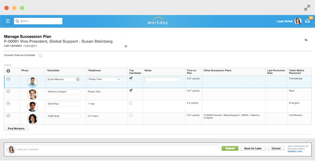 Career and Development Planning in Workday