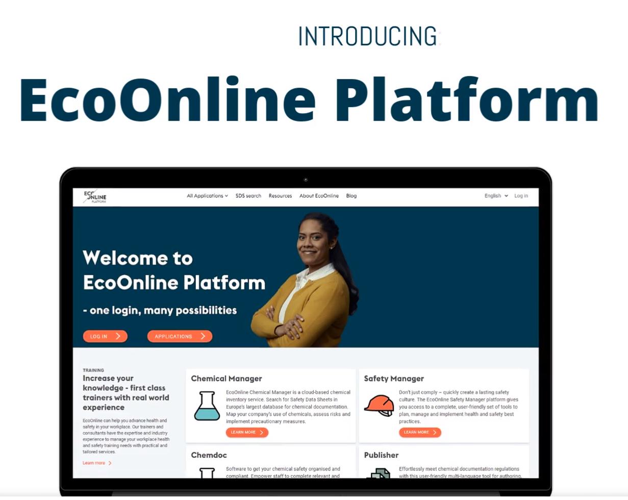 EcoOnline Platform screenshot: EcoOnline Platform