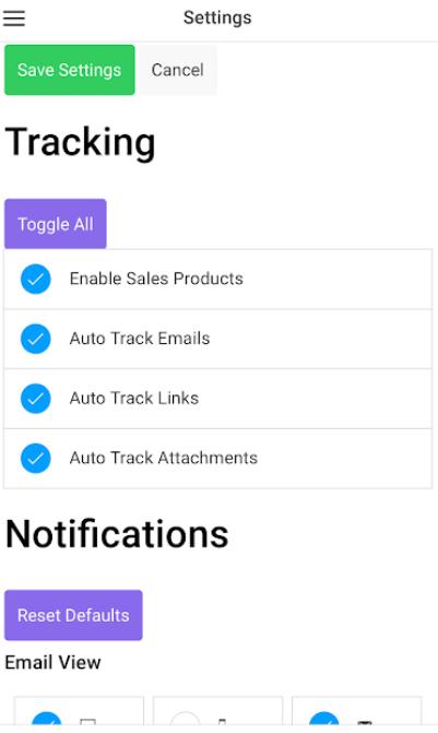 Opensense tracking options