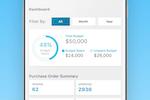 Captura de pantalla de ProcurementExpress.com: Keep track of department spend from the Webapp or mobile app.