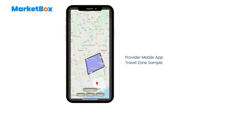MarketBox Software - Provider travel zone set up