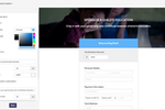 Zoho Checkout screenshot: Payment pages can be customized with different background images, colors, fonts, text fields, and more