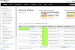 Nagios XI screenshot: Nagios service status